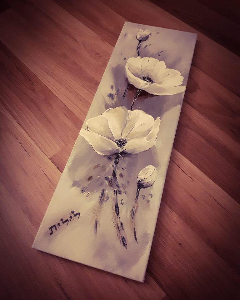 rectangular painting of flowers