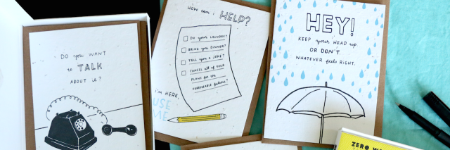 Thoughtful Human cards for depression and grief