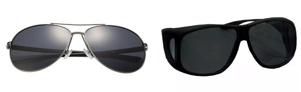 polarized sunglasses and sunglasses shield