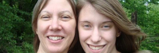 Angela Asmus and her mom