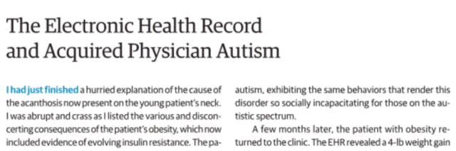 Screenshot of the top of the JAMA article