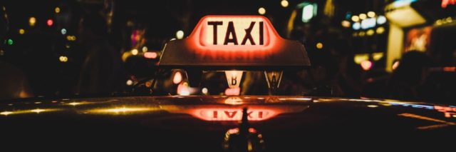 A picture of a taxi cab.