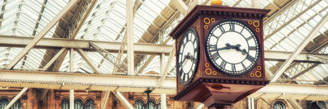 The Clock in Central Station, Glasgow.