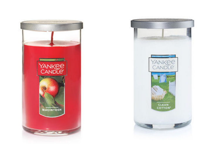 Two candles from Yankee Candle