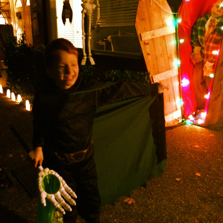 Little Nate at Halloween.