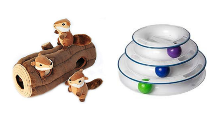 Automatic dog toy and cat toy.