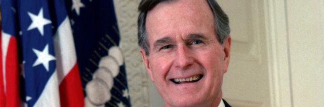 Former President of the United States George H.W. Bush in 1989