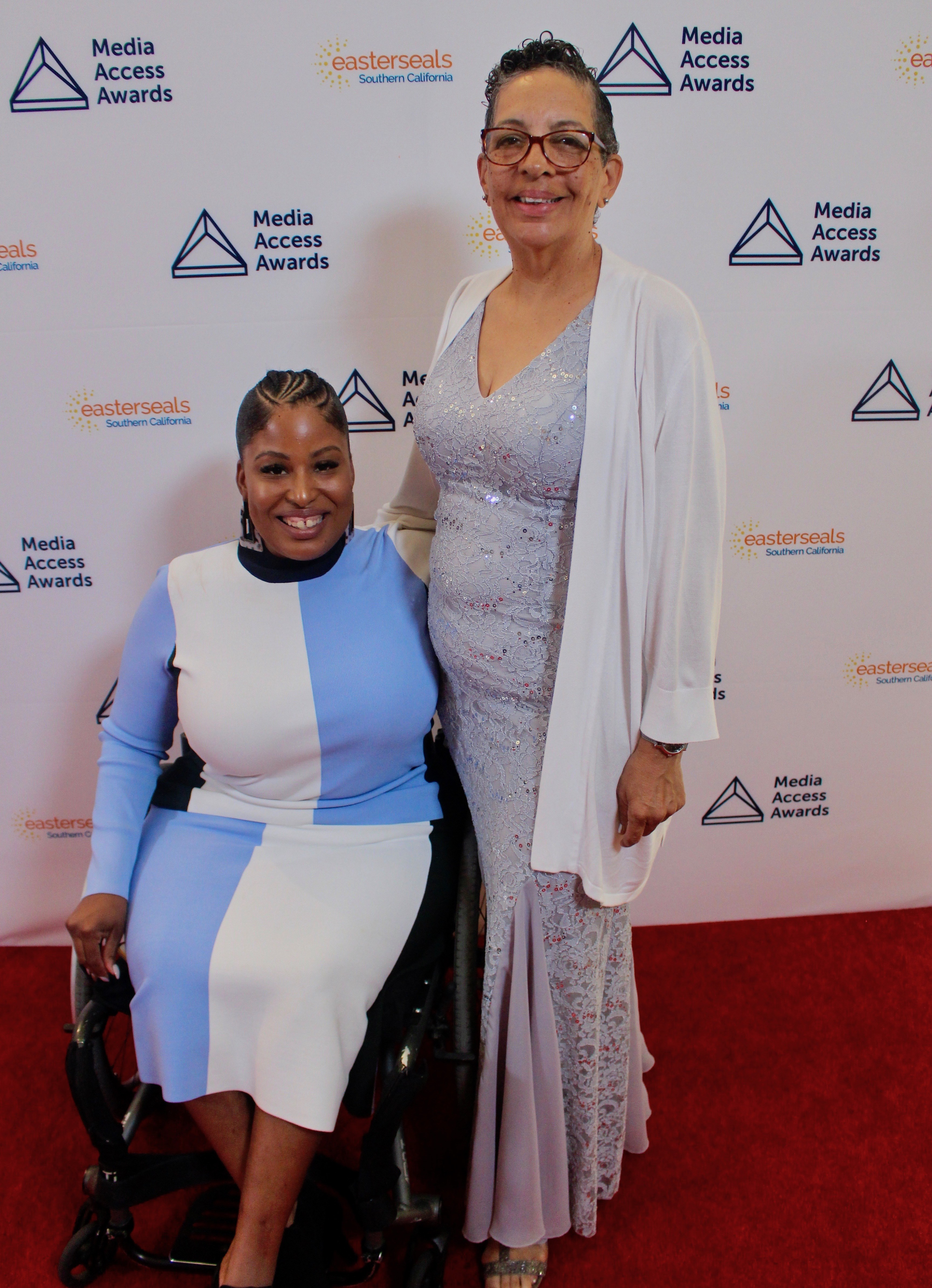 Tatiana Lee and her mother on the Red Carpet at the Media Access Awards.