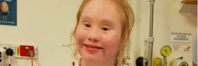 Madeline Stuart at hospital smiling at camera. Image via Instagram.