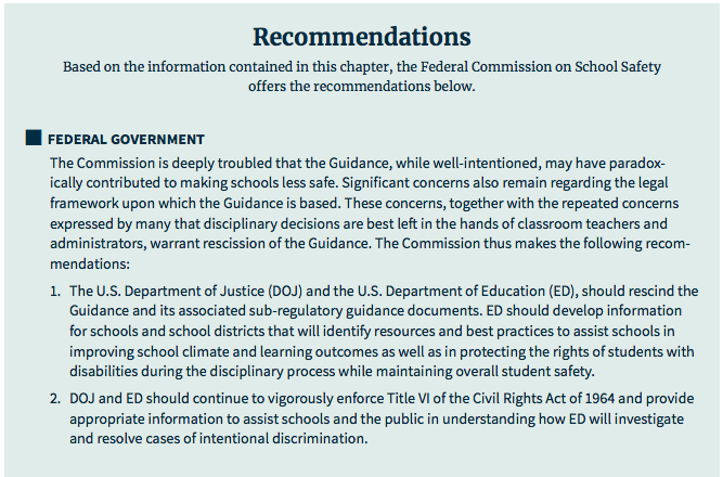 Federal Guidance On Students With >> Doe And Doj Rescind School Discipline Guidance Protecting Students