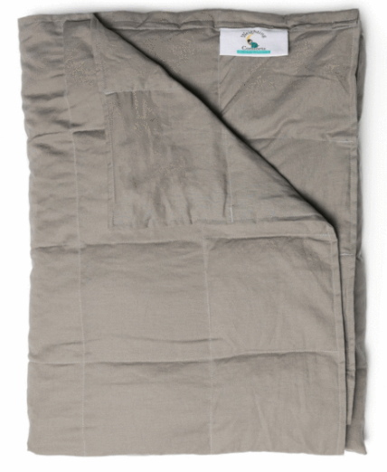 10-lb. pewter weighted blanket from weighting comforts