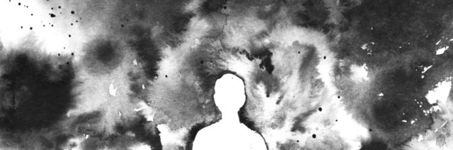 The lonely person emerges from the shadow