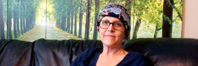 """Carol Marley, a hospital nurse with private insurance, says coping with the financial fallout of her pancreatic cancer has been exhausting. One example: An $18,400 chemotherapy bill submitted to an insurer with missing information and then denied because it arrived late. """"It's not any one individual. It's not any one system or provider,"""" she says. """"The whole system is messed up. … There's no recourse for me except to just keep making phone calls."""" (Anna Gorman/KHN)"""