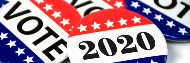 Election voting pins for 2020.