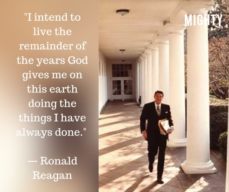 ronald reagan quote about alzheimers