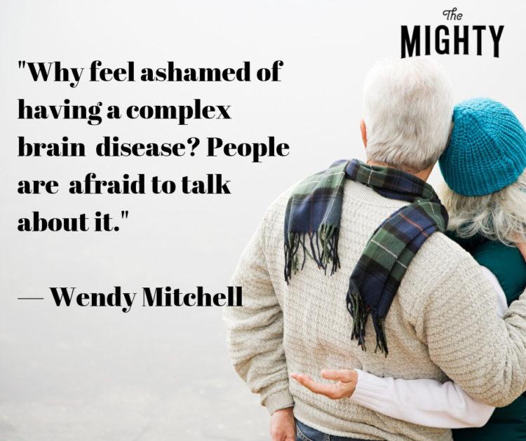 wendy mitchell quote about alzheimer's