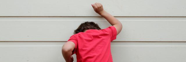 Child having a meltdown.
