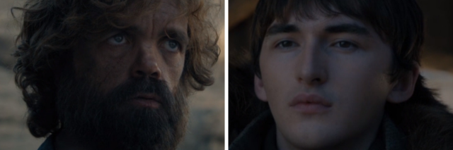 Tyrion Lannister and Bran Stark, disabled people who became rulers in the Game of Thrones finale.