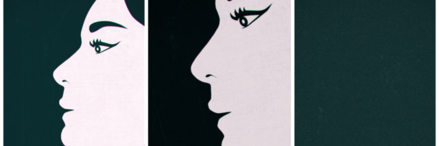 Drawing of a woman's face.