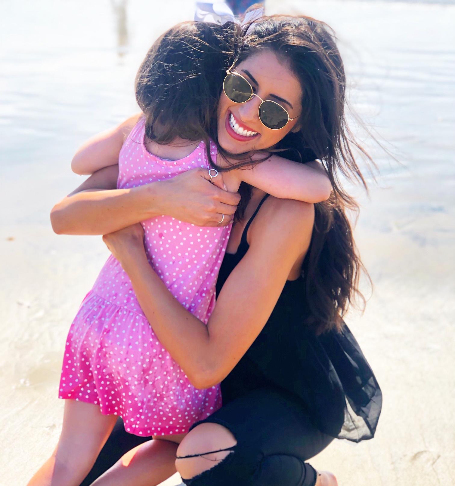 Caelin hugs Campbell