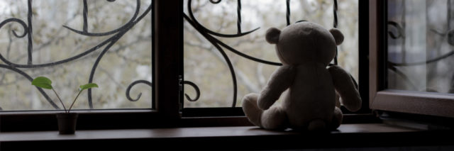 silhouette of teddy bear