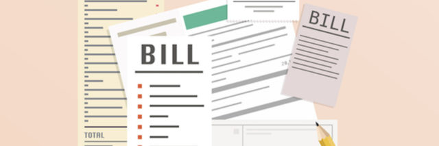 Paying bills. Payment of utility, bank, restaurant and other bills.
