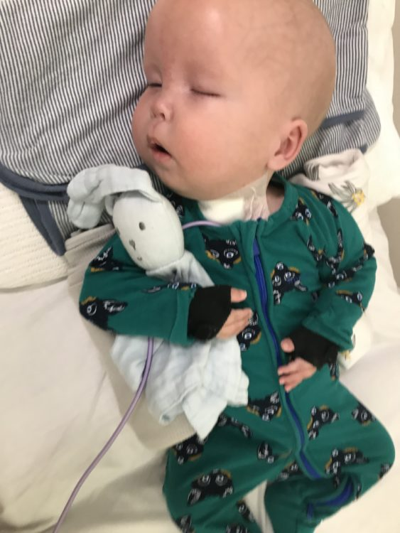 the author's baby in the hospital