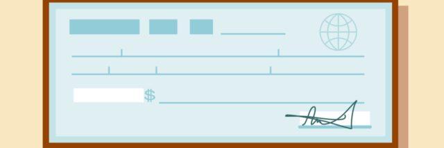 Illustration of a bank check