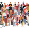 Graphic featuring a group of diverse people including people with disabilities.