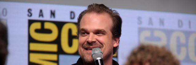 David Harbour at a ComicCon panel