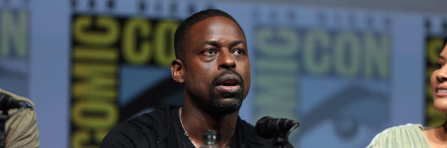 Sterling K. Brown speaking on a panel