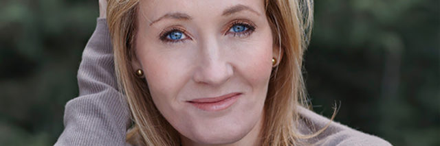 A headshot of J.K. Rowling