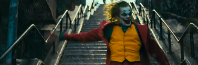 Joaquin Phoenix as the Joker in the 2019 movie