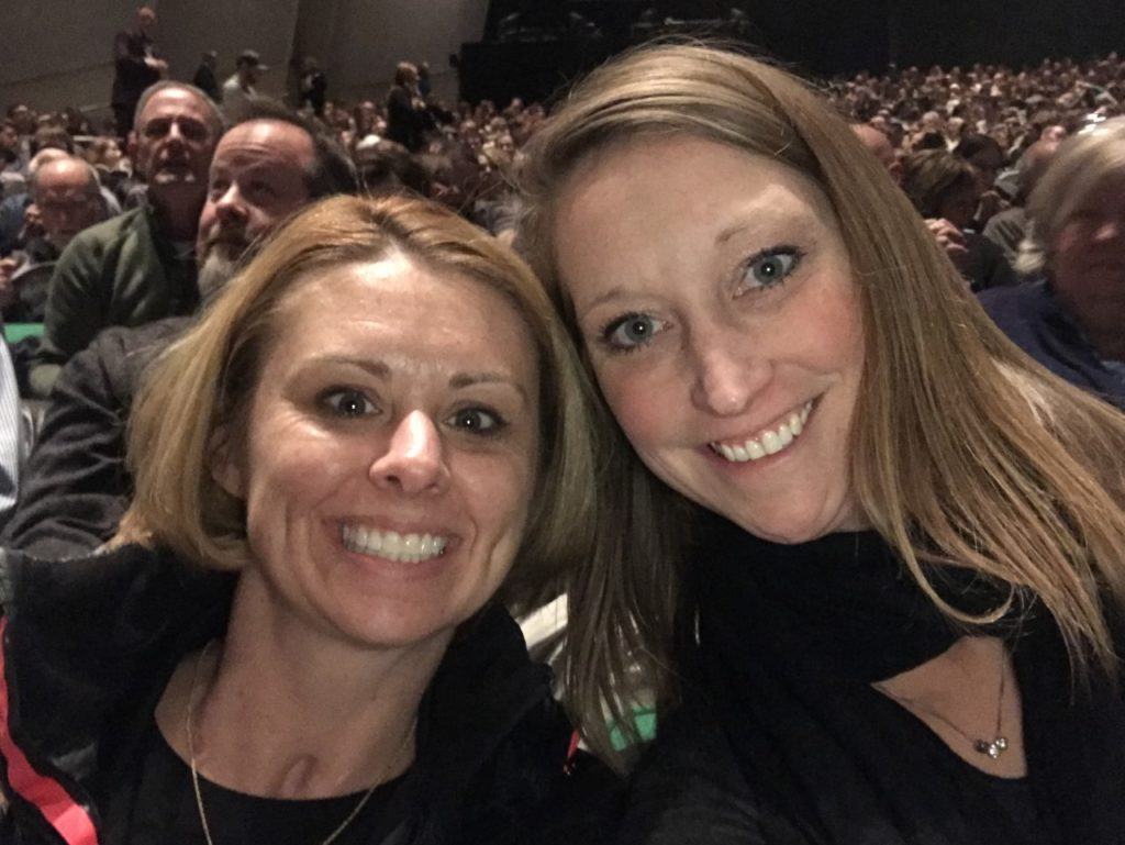 photo of a contributor and her friend at the play Dear Evan Hansen