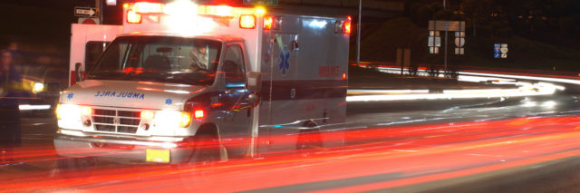 ambulance rushing on a street
