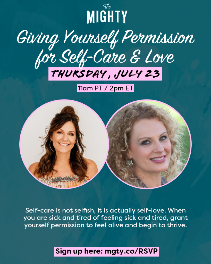 Giving Yourself Permission for Self-Care and Love event promo graphic