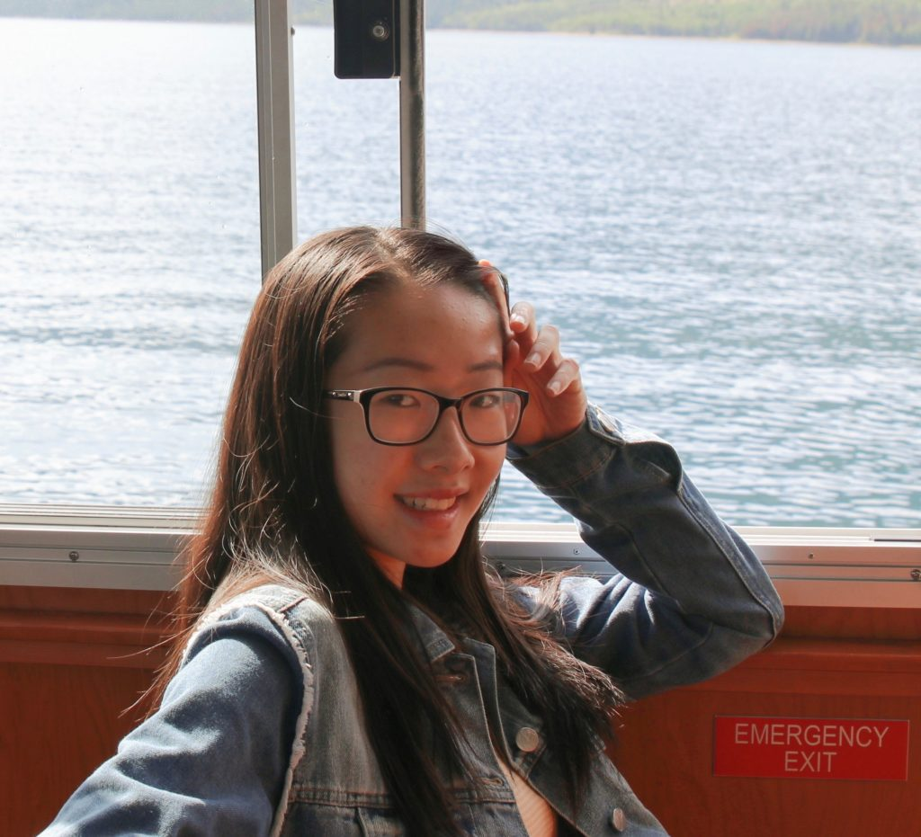 """Xinyi Christine Zhang, 15, wants families of health care workers who have died of COVID-19 to know she is thankful for the work of their loved ones. """"Someone they don't know personally, even a stranger, appreciates what their loved one has done,"""" Zhang says. (Courtesy of Xinyi Christine Zhang and Helen Liu)"""