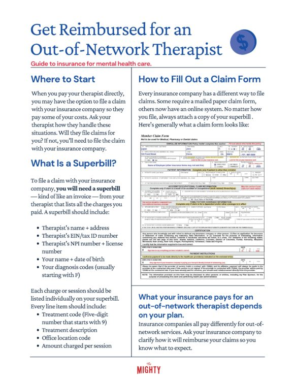 Get Reimbursed for an Out-of-Network Therapist (click to download flyer)