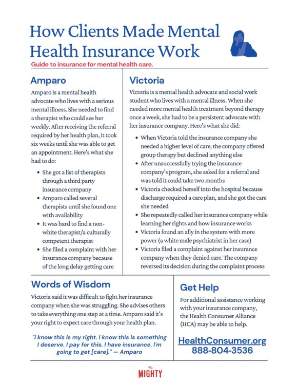 How Clients Made Mental Health Insurance Work (click to download flyer)