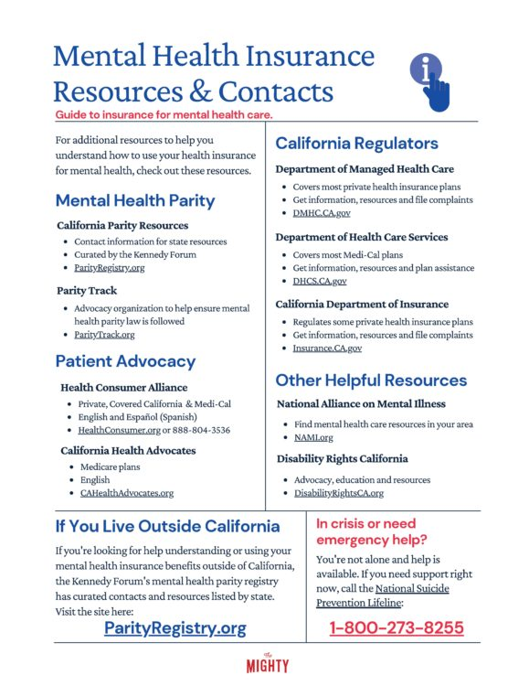 Mental Health Insurance Resources & Contacts (click to download the flyer)