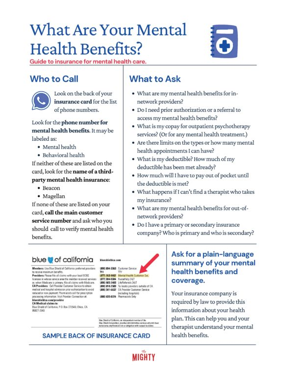 What Are Your Mental Health Benefits? (click to download flyer)
