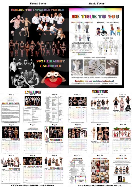 The calendar Jessica created.