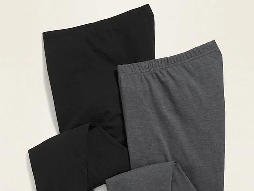 Black and gray leggings.
