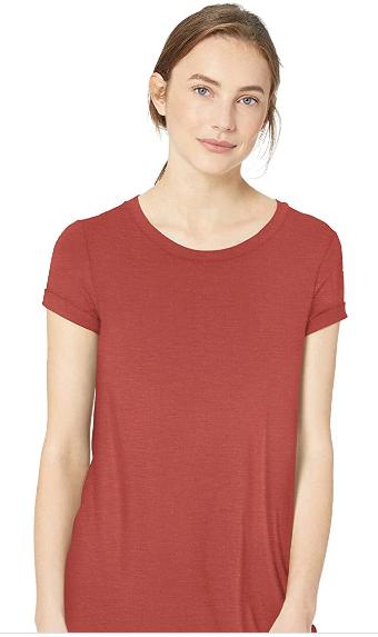 Red t-shirt tunic.