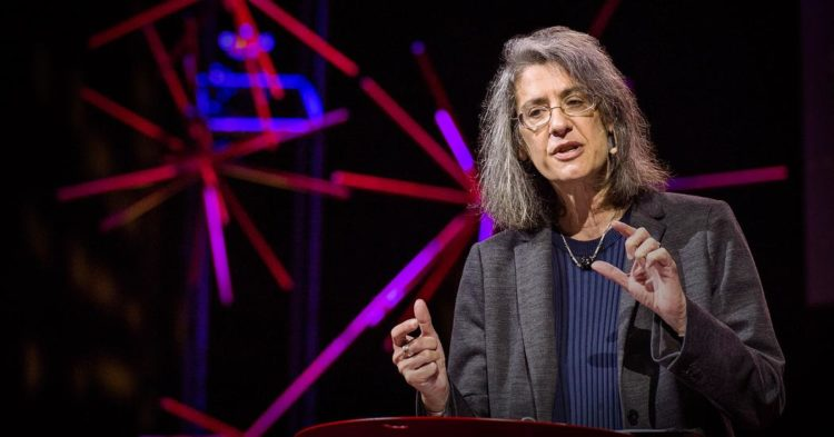 Elyn Saks giving a TED Talk