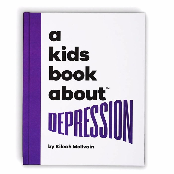 "photo of book which reads ""A Kids Book About Depression"""