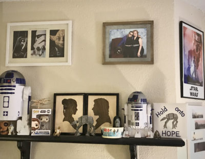 Photo of author's room filled with 'Star Wars' decorations