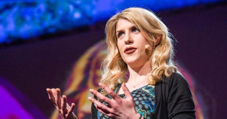 Eleanor Longden giving a TED Talk