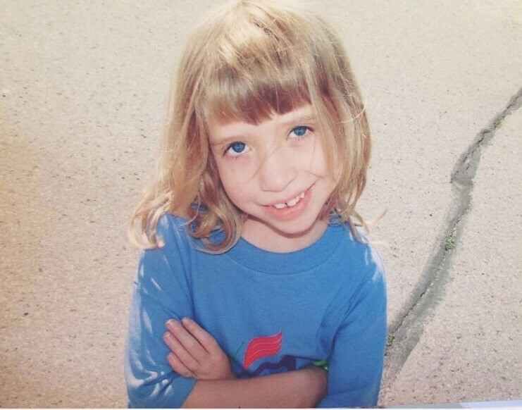 Kathryn as a child