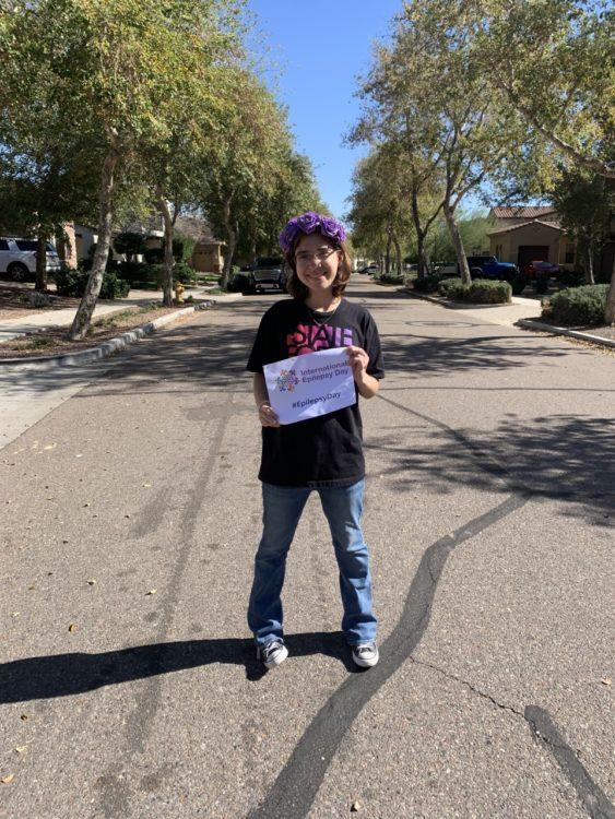 Kathryn raising awareness for epilepsy.